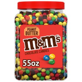 M&M'S Peanut Butter Chocolate Bulk Candy Jar (55 oz.)