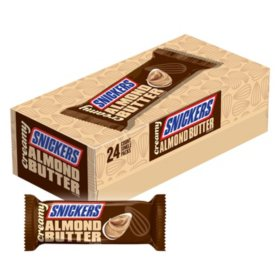 Snickers Creamy Almond Butter Square Candy Bars (1.4 oz., 24 pk.)