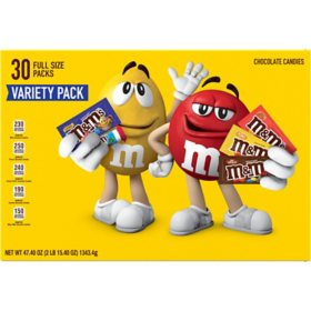 M&M'S Chocolate Single Size Assorted Variety Box (30 ct.)