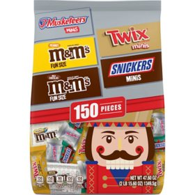 Mars Chocolate Christmas Candy Fun Size & Minis Size Variety Mix (47.6 oz., 150 ct.)
