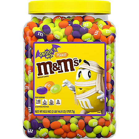 M&M's Ghoul's Mix Peanut Chocolate Bulk Candy (62 oz.)