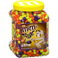 M&M'S Peanut Ghoul's Mix Bulk Chocolate Halloween Candy Resealable Jar (62 oz.)