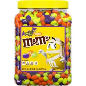 M&M's Ghoul's Mix Peanut Chocolate Halloween Bulk Candy (62 oz.)