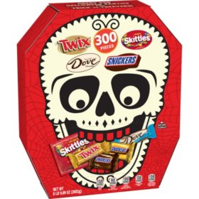 MARS Mini Size Halloween Skull Box Candy Variety Mix (6 lbs. 9.89 oz., 300 ct.)