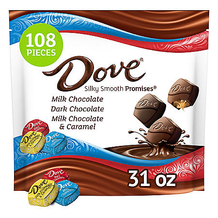 Dove Promises Chocolate Candy Bulk Variety Pack (108 pc., 31 oz.)