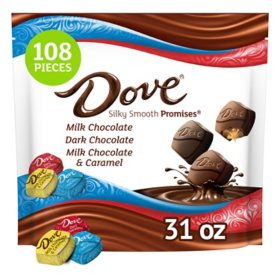 Dove Promises Bulk Chocolate Candy Assorted Mix (108 pcs., 31 oz.)