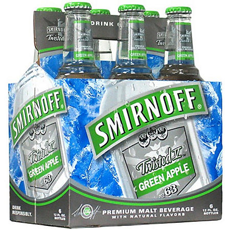Smirnoff Twisted V Green Apple Premium Malt (11.2 fl. oz. bottle, 24 pk.)