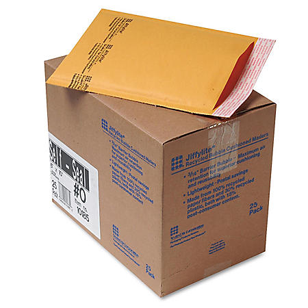 Sealed Air - Jiffylite Self-Seal Mailer - Side Seam - 6 x 10 - Golden Brown -  25 Pack
