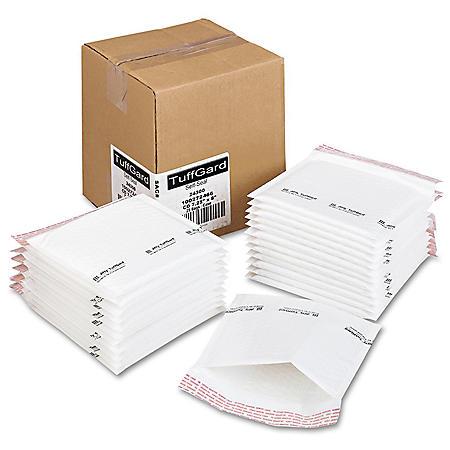 Sealed Air - Jiffy TuffGard Self-Seal Cushioned Mailer, Side Seam, 7 1/4 x 8, White, 25 per Box