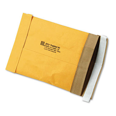 Sealed Air - Jiffy Padded Self-Seal Mailer, Side Seam, #0, 6 x 10, Golden Brown, 250 per Pack