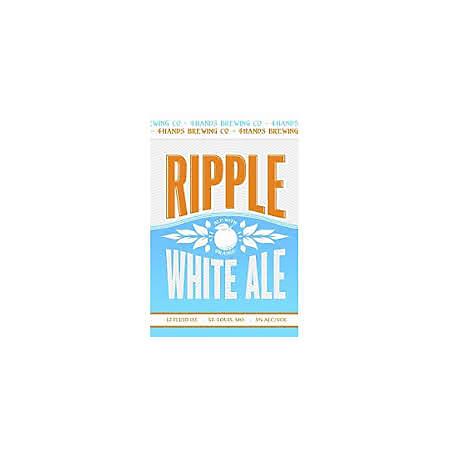 4 Hands Ripple White Ale (12 fl. oz. can, 12 pk.)