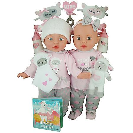 Celebrating Twins Vinyl Doll Set