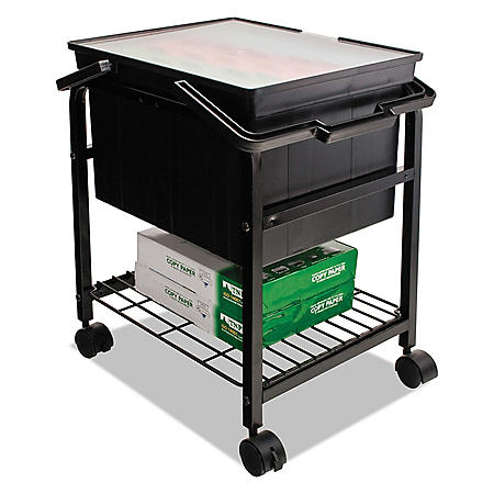 Advantus Heavy-Duty File Shuttle, 17.13W x 14.25D x 20H (Black)