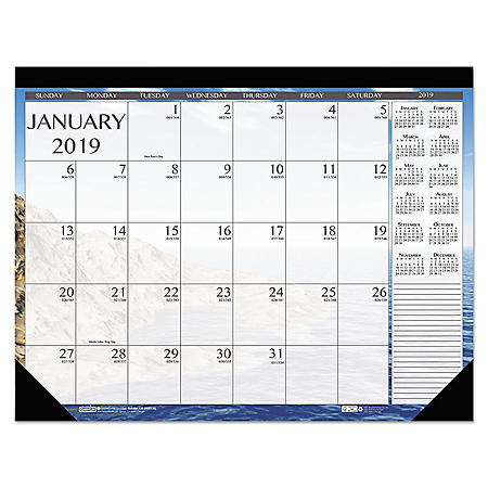 House of Doolittle Earthscapes Seascapes Desk Pad Calendar, 18 1/2 x 13, 2020