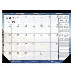 "House of Doolittle Earthscapes Seascapes Desk Pad Calendar, 18 1/2"" x 13"", 2019"