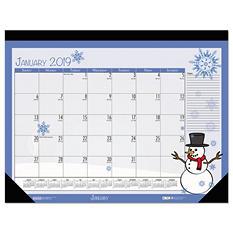"""House of Doolittle Earthscapes Seasonal Desk Pad Calendar, 18 1/2"""" x 13"""", 2019"""