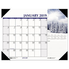 "House of Doolittle Earthscapes Scenic Desk Pad Calendar, 22"" x 17"", 2019"
