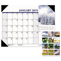 "House of Doolittle Earthscapes Scenic Desk Pad Calendar, 18 1/2"" x 13"", 2019"