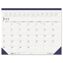 House of Doolittle Compact Academic Desk Pad Calendar, 18 1/2 x 13, July 2016 - August 2017