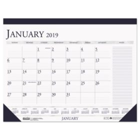 House of Doolittle Recycled Two-Color Monthly Desk Calendar w/Large Notes Section, 18 1/2 x13, 2020