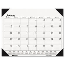House of Doolittle Workstation-Size One-Color Monthly Desk Pad Calendar, 18 1/2 x 13, 2017