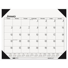 House of Doolittle One-Color Refillable Monthly Desk Pad Calendar, 22 x 17, 2017