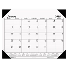 House of Doolittle™ Recycled One-Color Refillable Monthly Desk Pad Calendar, 22 x 17, 2019