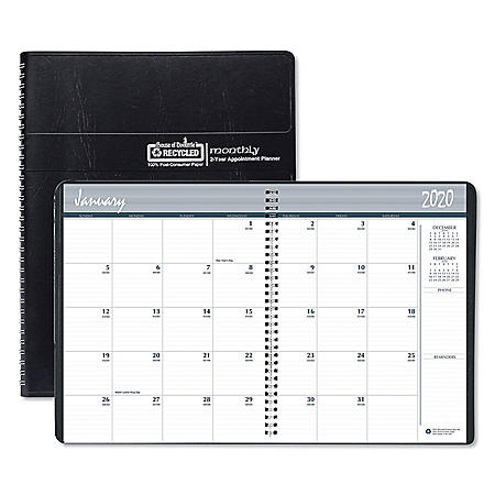 House of Doolittle 100% Recycled Two Year Monthly Planner with Expense Logs, 8.75 x 6.88, 2021-2022