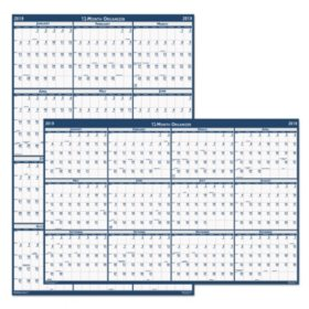 House of Doolittle Recycled Poster Style Reversible/Erasable Yearly Wall Calendar, 24 x 37, 2020