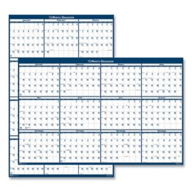 House of Doolittle Recycled Poster Style Reversible/Erasable Yearly Wall Calendar, 24 x 37, 2021