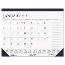 "House of Doolittle"" Recycled Two-Color Monthly Desk Pad Calendar w/Large Notes Section, 22x17, 2018"