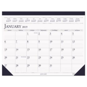 House of Doolittle Recycled Two-Color Monthly Desk Pad Calendar, 22 x 17, 2020