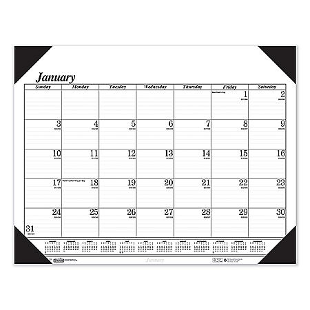 House of Doolittle Recycled One-Color Refillable Monthly Desk Pad Calendar, 22 x 17, 2022