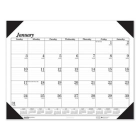 House of Doolittle Recycled One-Color Refillable Monthly Desk Pad Calendar, 22 x 17, 2021