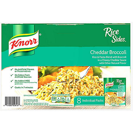 Knorr Rice Sides, Broccoli Cheddar (5.7 oz., 8 pk.)
