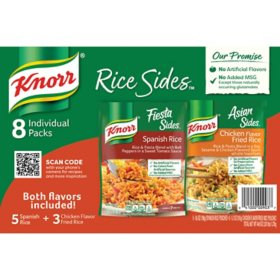 Knorr Rice Sides Variety Pack, Spanish and Chicken Fried Rice (8 pk.)