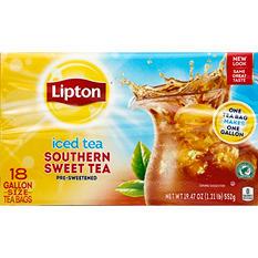 Lipton Southern Sweet Tea, One Gallon Size Tea Bags (18 ct.)