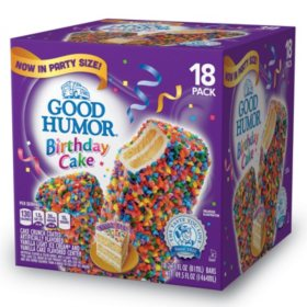 Surprising Good Humor Birthday Cake Ice Cream Bars 49 5 Oz 18 Ct Sams Birthday Cards Printable Benkemecafe Filternl