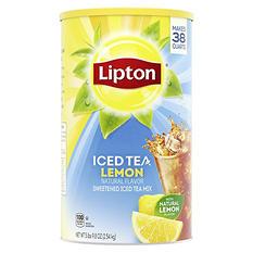 Lipton Lemon Iced Tea with Sugar Mix (6 lb. 4 oz. can, makes 38 quarts)