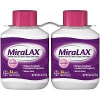 MiraLAX Laxative Powder for Gentle Constipation Relief (34 doses, 2 ct.)