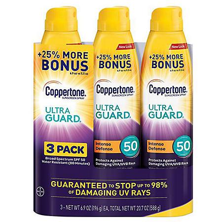 Coppertone Ultraguard Sunscreen Continuous Spray SPF 50 (6.9 oz 3pk)