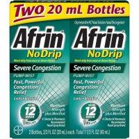 Afrin No Drip Severe Congestion Nasal Spray (20 ml each, 2 pk.)