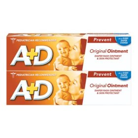 Bayer A+D Diaper Rash Ointment and Skin Protectant, Original (4 oz., 2 pk.)