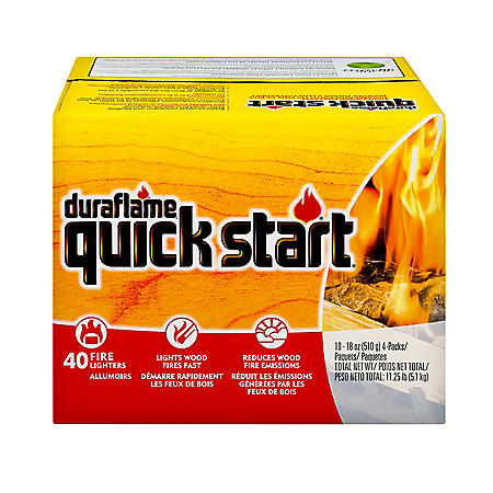Duraflame Quick Start Wood Fire Starter, 40-Pack Case