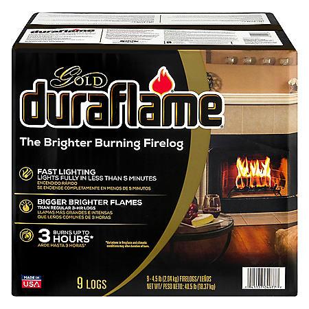 Duraflame Gold Ultra-Premium 4.5 lb. Firelogs, 9-pack Case (3-Hour Burn)