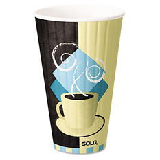 Solo Duo Shield Hot Insulated 20oz Paper Cups, Beige -  350/Carton