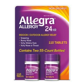 Allegra 24 Hour Allergy Relief 180mg (110 ct.)
