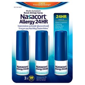 Nasacort Allergy 24hr Non-Drip Nasal Spray (120 sprays, 3 pk.)
