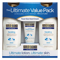 Gold Bond Ultimate Lotion Value Pack (16.8 oz., 2 pk. & 3 oz. Travel Size)