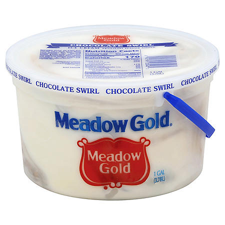 Meadow Gold Chocolate Swirl Ice Cream Pail (1 gal.)